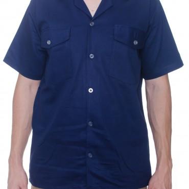 Camisa cuello sport, manga corta